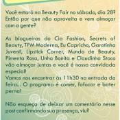 Encontro de Blogueiras e Leitoras na Beauty Fair