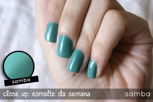 Close do Esmalte Samba