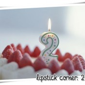 lipstick corner: 2 anos!