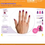 Simulador de Unhas Color Trend & Concurso Beleza em Suas Mãos