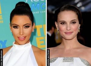 Kim Kardashian e Natalie Portman