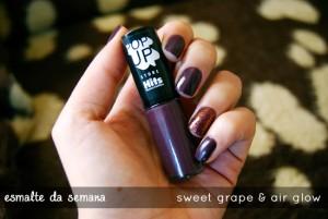 Esmalte da Semana | Sweet Grape & Air Glow