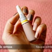 Esmalte da Semana: Taupe Ombré Nails