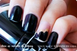 Close Up: Esmalte da Semana: Black Sugar & Garota da Capa