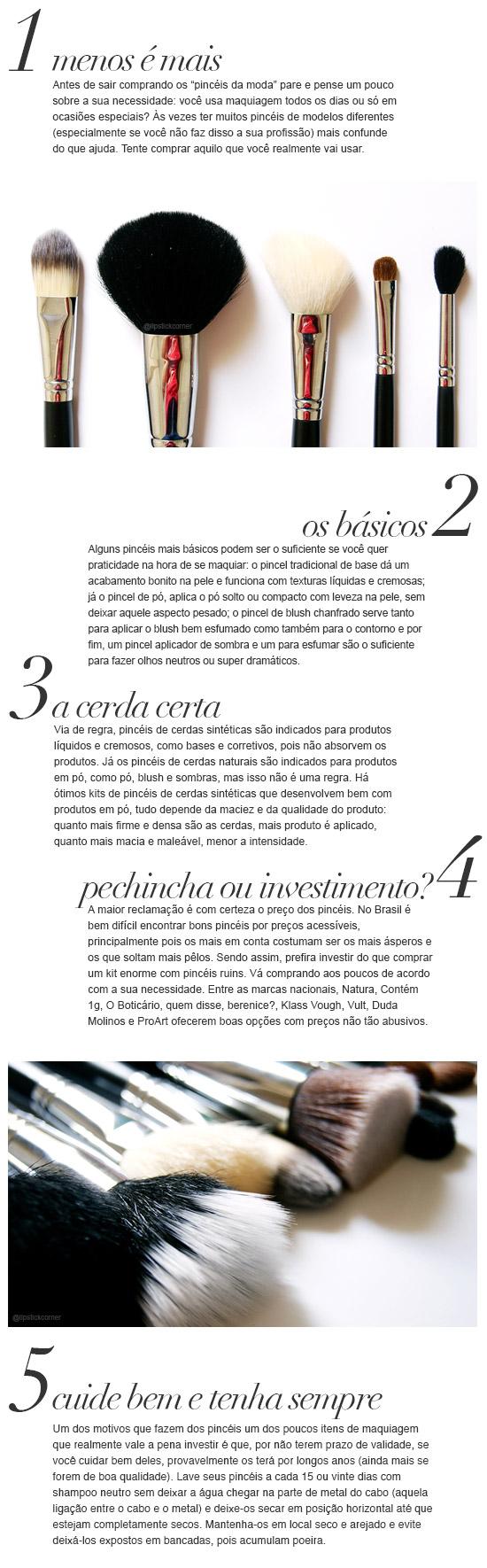 Dicas | Escolhendo Pincéis