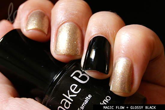 Esmalte da Semana: Magic Flow & Glossy Black