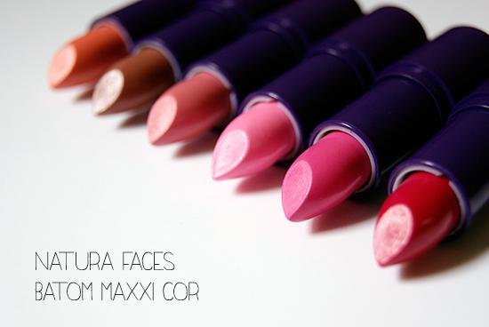 Natura Faces | Batom Maxxi Cor