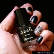 Esmalte da Semana: Matte Black + Nail Dress