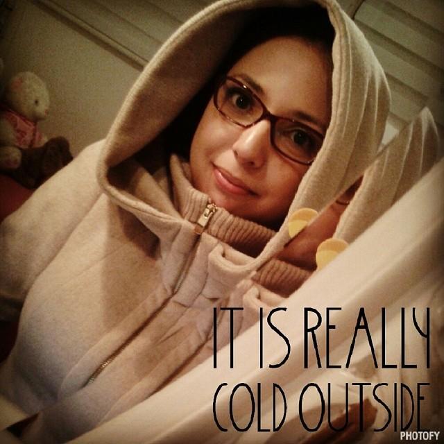Look do dia: casaco da #EsquimóStore (mentira, é da Zara mesmo =P). #ootd